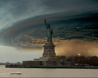 Photomontage de l'ouragan Sandy